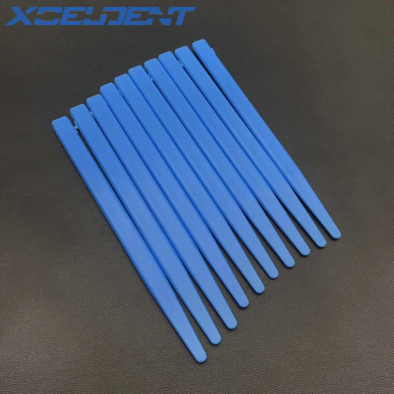 10 PCS/Pack High Quality Plastic Dental Blue Alginate Mixing Plaster Spatula For Impression Material Dental Tools