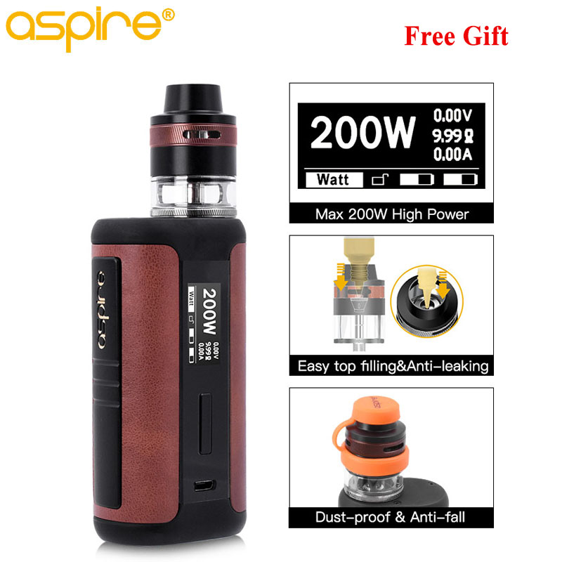 Electronic Cigarette Vaper Aspire Speeder Revvo Vape Kit 3.6ml Tank Atomizer ARC Coil 510 Thread 200W Box Mod Vaporizador E Cigs