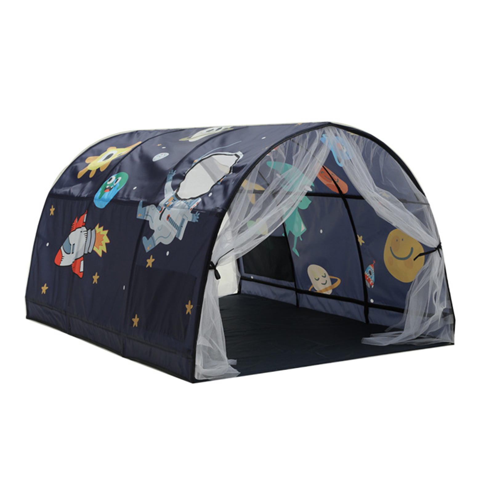 Bed Canopy Dream Kids Play Tents Playhouse Privacy Space Boys Girls Toddlers Pop Up Portable Frame Curtains Bed Tent