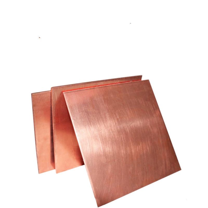 1mm 2mm 3mm 4mm Thickness  99.9% Copper Sheet Plate Pure Copper Cu Metal 100mm 200mm 150mm