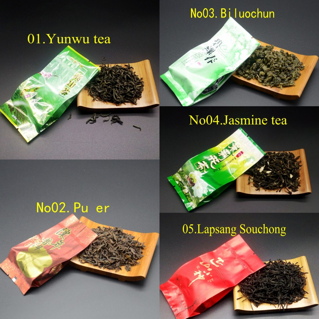 16 Different Flavors Chinese Tea Includes Milk Oolong Pu-erh Herbal Flower Black Green Tea 2