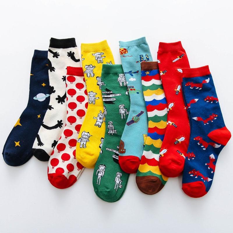 Japanese Jarajuku Style Unisex Kawaii Socks Women Spring Autumn Kawaii Funny Socks Cotton Calcetines Mujer Meias 123101