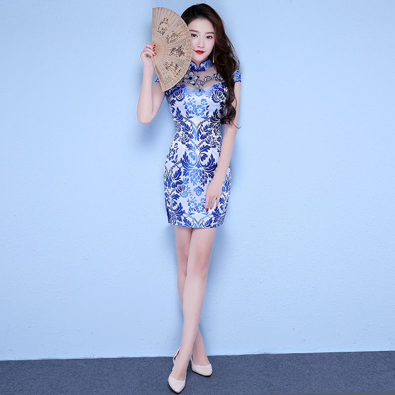 Bridesmaid Wind Restoring Ancient Ways Is Brief Paragraph Daily Improvement Of Traditional Chinese Dress With Short Sleeves