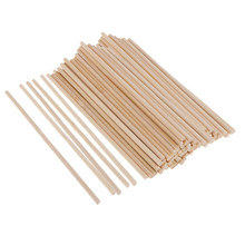 100x 4mm Round Balsa Wood Stick Wooden Dowel Rod For Kids Model Making 150mm(China)