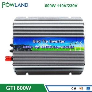 Сетка галстук микро инвертор 600 Вт MPPT чистая синусоида 110В 220В выход на сетке галстук инвертор 10,5-30 в или 22-50в постоянного тока