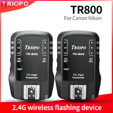 TRIOPO TR800 TR-800 receiver and transmiter 2.4G wireless flashing device For Canon Nikon Camera Suit for TR-988 TR-950 TR-586 tr 566m цветок имбиря