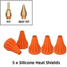 Glue Gun Silicone Heat Shields 5Pcs and Rubber for Full Size Hot Glue Gun Which Use 11mm Glue Sticks