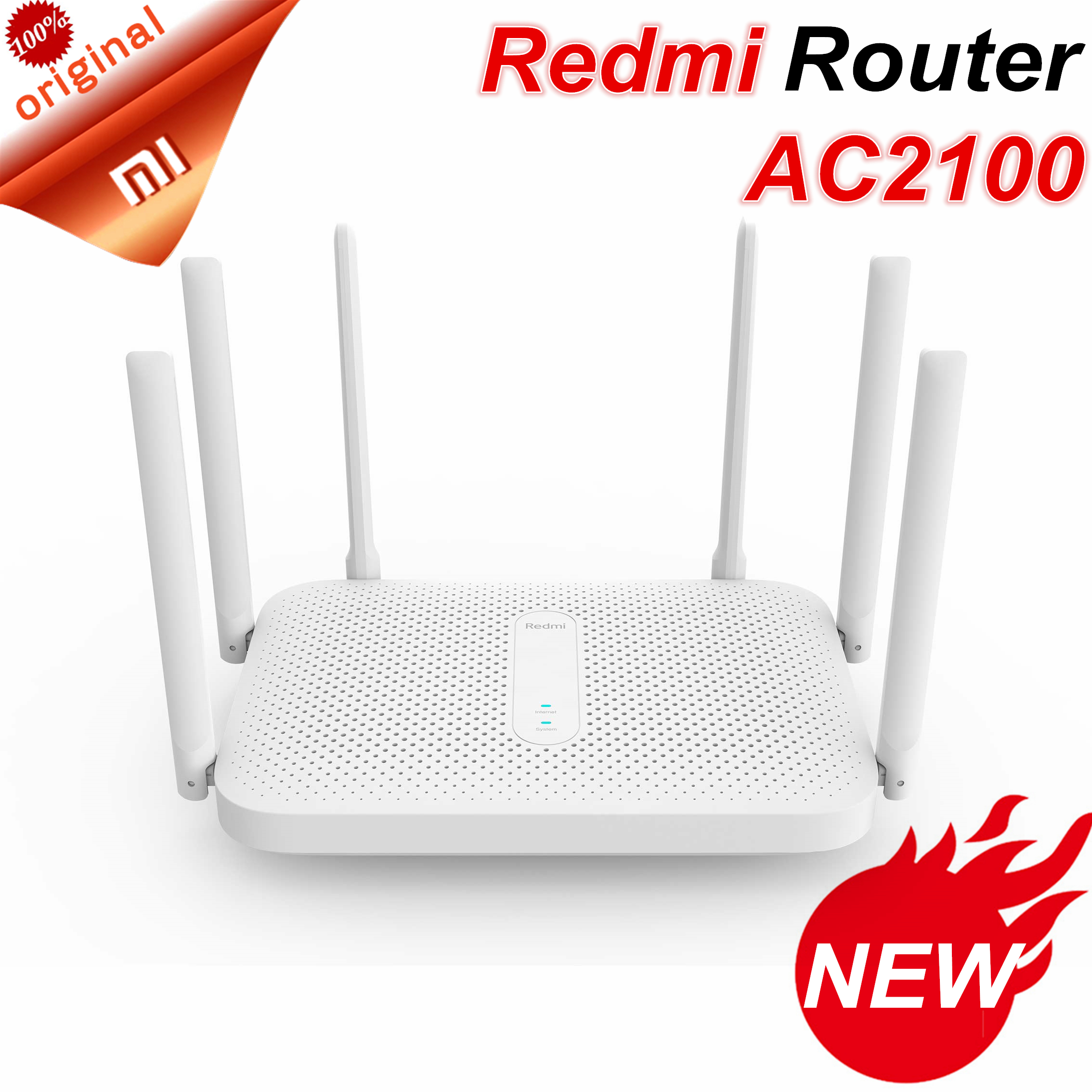 Xiaomi Wifi Repeater Antennas Ac2100-Router Easy-Setup Gigabit Dual-Band Redmi Wireless title=