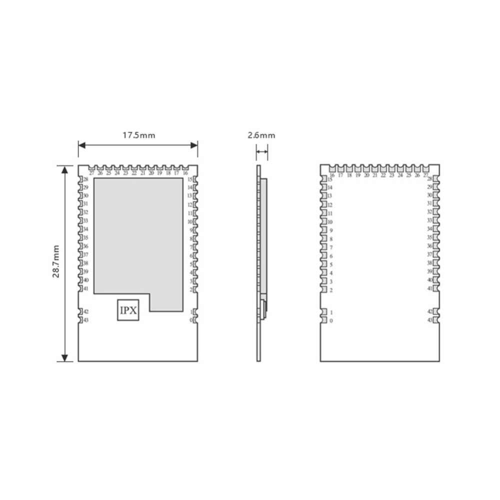 NRF52840 Bluetooth 5,0 240MHz RF transceptor E73-2G4M08S1C 8dbm antena cerámica BLE 4,2 2,4 GHz transmisor y receptor