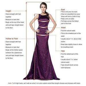 Image 5 - כתום שיפון ערב שמלות 2020 הגעה חדשה כתף אחת סימטרי סקסי גבוהה סדק חרוזים Duba נשים פורמליות ערב שמלות