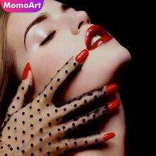 MomoArt Diamond Painting Portrait Mosaic Full Drill Square Rhinestone Embroidery Girl Home Decor