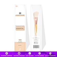Y105 Duo-end Blush Powder Eyeshadow brush Bamboo Handle Rose Gold Classical Makeup Brush Multifunction Essential Travel Brushes