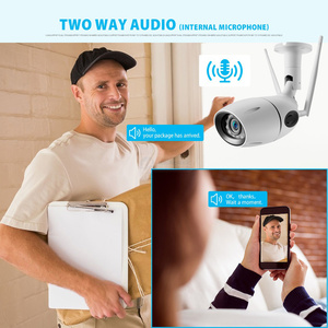 Image 2 - HD 1080P 5MP IP Camera WIFI Wireless ONVIF CCTV Bullet Network Camera Outdoor Two Way Audio Micro SD Card Slot Max 64G P2P iCsee