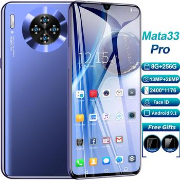 Newest 8GB 256GB Smartphone Four Cameras Mobilephone Snapdragon 855 Plus Octa Core FHD LED Screen 2020 4G Big Battery Smartphone