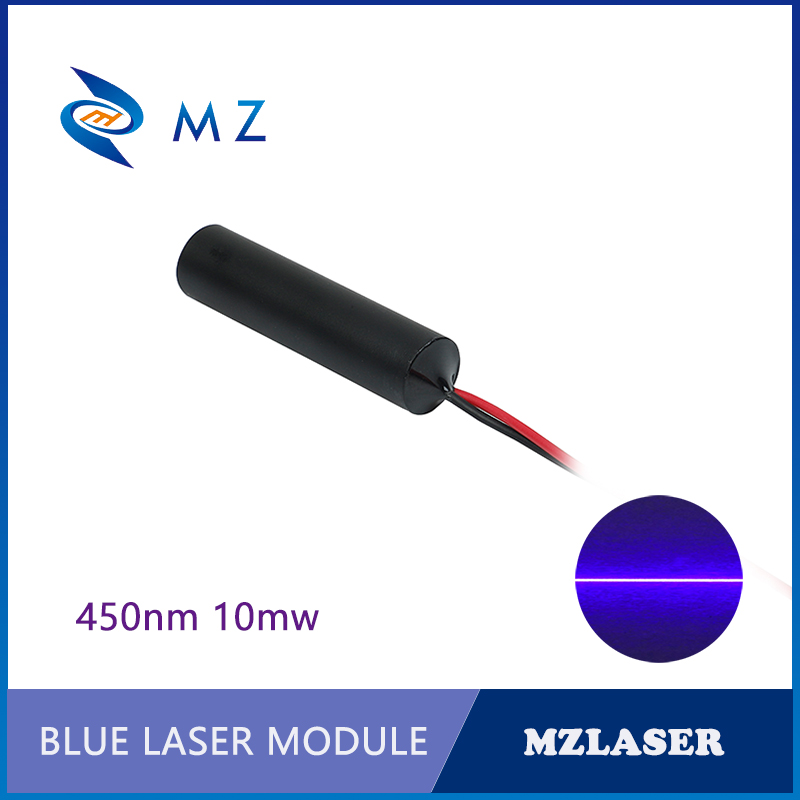 450nm 10mw 110 Degree Industrial APC Drives Blue Line Laser Diode Module