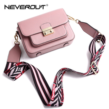 NEVEROUT 3 Color Neverful Bag Women Stylish Small Crossbody Shoulder Cowhide Leather Handbag Purse with Guitar Style Strap