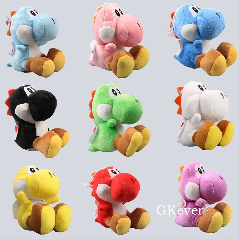 8 Colors Mario Yoshi Dragon Plush Stuffed Toys Doll Peluche 15 Cm Yoshi Plush Keychain Pendant Women Kids Birthday Party Gift