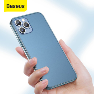 Image 1 - Baseus Frosted Glass Protective Case For iPhone 12 Pro 12 Back Case For iPhone 12 Pro Max Protective Soft Phone Cover For iPhone