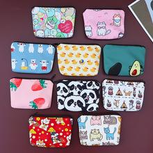 FUDEAM Bonded Stoff Panda Hund Katze Cartoon Frauen Geldbörse Mini Nette Zipper Tier Mädchen Münze Brieftasche USB Kabel Tasche key Wallets cheap Polyester CN (Herkunft) Unisex 9 5cm SQUARE 13cm kleines Portmonee Mode
