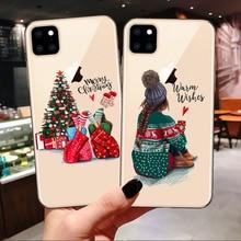 Модный силиконовый чехол для iPhone 6S, 7, 8 Plus, X, XS, Max, XR, Рождественская девочка, ТПУ чехол для iPhone 11 Pro Max