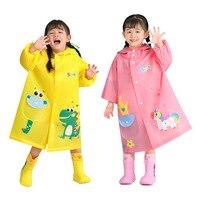 Nette Kinder Regenmantel Cartoon Dinosaurier Kinder Jungen Mädchen Wasserdichte Regen Mantel Poncho Grundschüler Regen Anzug