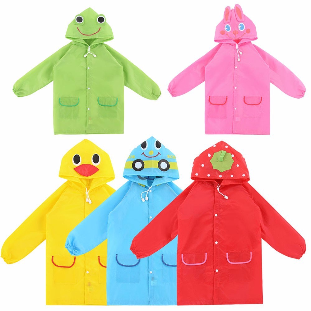 New 1PC Cartoon Animal Style Waterproof Kids Raincoat For Children Rain Coat Rainwear/Rainsuit Student Poncho Drop Shipping