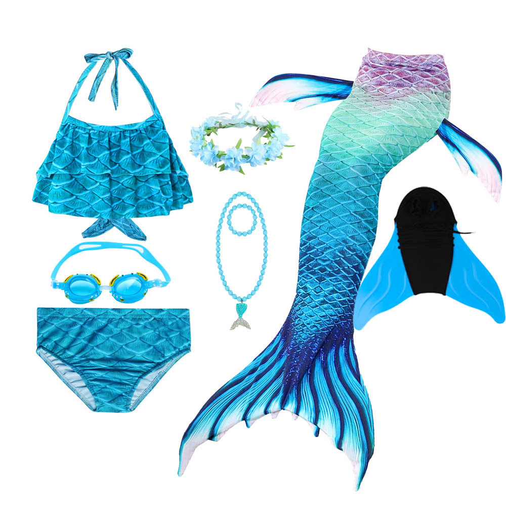 Halloween Purim Mermaid Cosplay Costume Mermaid Tails For Swimming With Monofin Tail Costume For Girl Beach Suit Dress
