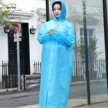 Thicken Adult Raincoat EVA Fashion Green Travel Outdoor Light Reuse Wholesale rain poncho