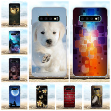 For Samsung Galaxy S10 Case Soft TPU Silicone G973F G973U G973W Cover Dog Patterned Coque