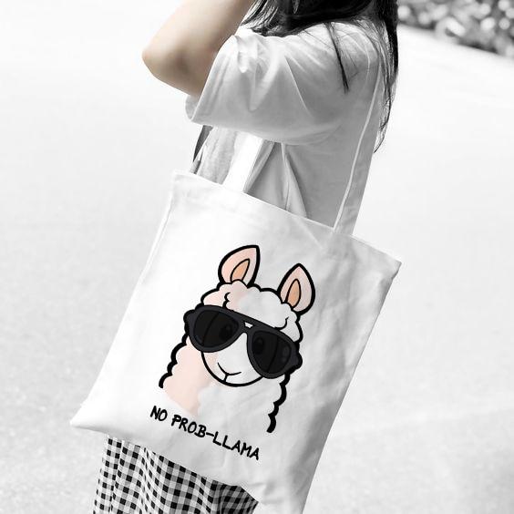 Reusable Shopping Bag Fashion Women Canvas Tote Bags Printing Eco Bag Cartoon Bolsa De Compras Shopper Shoulder Bags