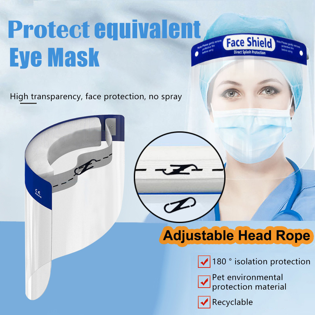 5/10/20/50PCS Adjustable Transparent Face Shield Splash proof Ultra light Full Face Face Mask Anti Fog Anti Droplets Face Shield Other Kitchen Specialty Tools    - AliExpress