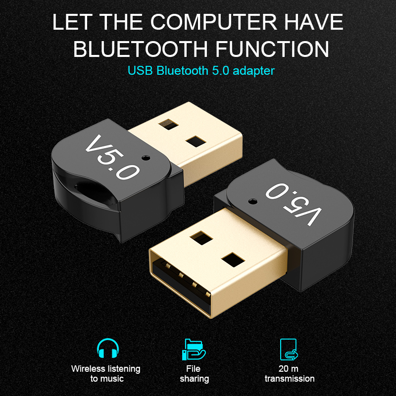 DISOUR Wireless USB Adapter For PC Laptop Computer USB 5.0 Bluetooth Transmitter Adapter Audio Receiver Mini Bluetooth Dongle