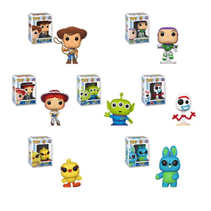 FUNKO POP Toy Story 4 Forky Rex Ducky Woody Brinquedos Original Vinyl Action Figures Cartoon Collection Model Anime Toys Gifts