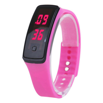Fashion Sport LED Women Watches Candy Color Silicone Rubber Touchscreen Digital Watches Waterproof Bracelet Wrist Watch UND Sale