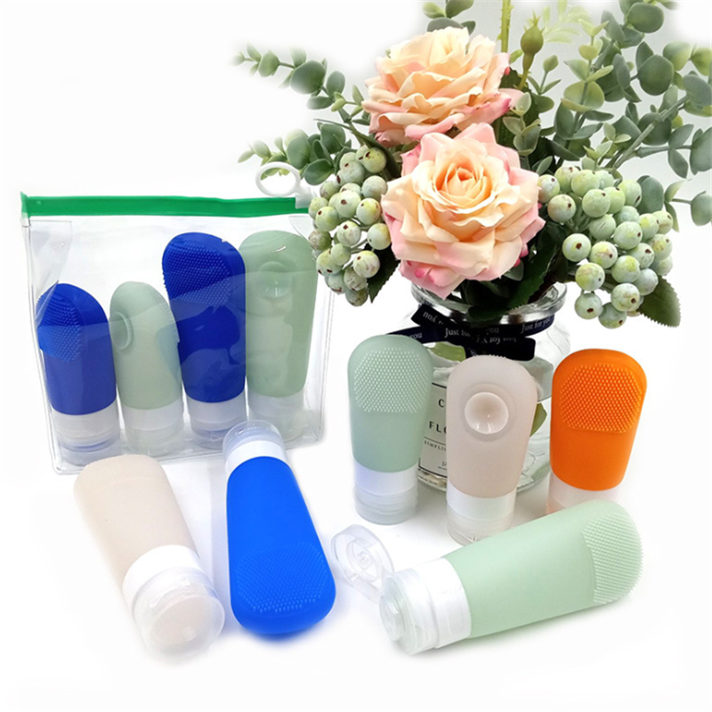 2020 1pc 60ml 90ml Portable Silicone Refillable Bottle Empty Travel Packing Press For Lotion Shampoo Cosmetic Squeeze Containers