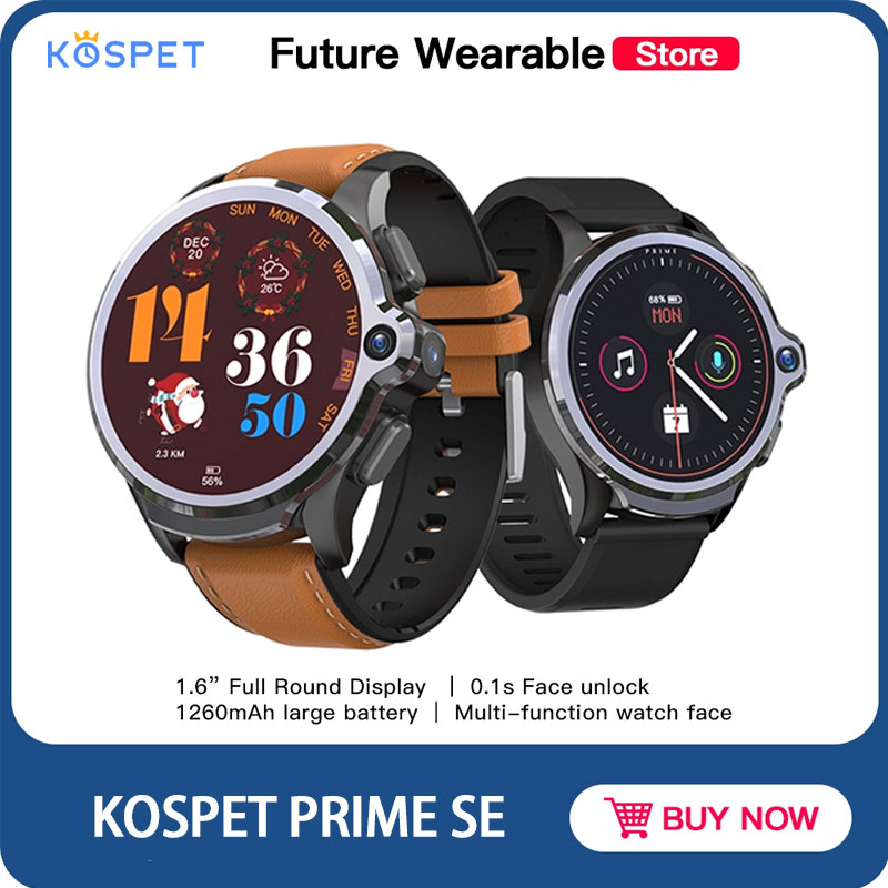 KOSPET PRIME SE 4G Vo LTE smart watch with 1 6 inch screen Face ID 1260mAh