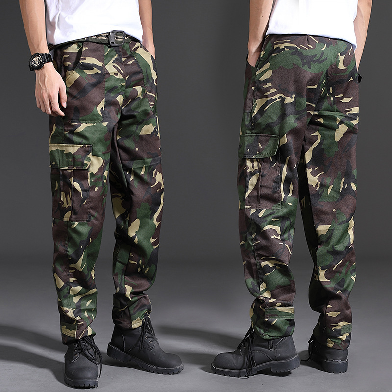 Spring Brand Men Fashion Military Cargo Pants Multi-pockets Baggy Men Pants Casual Trousers Overalls Camouflage Pants Man Cotton