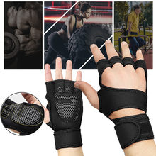 Novo 1 par luvas de treinamento de levantamento de peso das mulheres dos homens fitness esportes construção do corpo apertos de ginástica ginásio mão palma protetor luvas