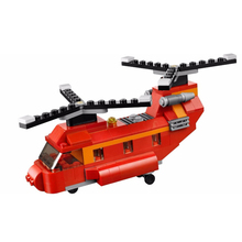 3107 City Creator 3 in 1 Aircraft Red Rotors Building Blocks Bricks Model Kids Toys Marvel  31003 Lepin toys lepin 17006 928pcs kirk s house rare limited edition model building kits set blocks bricks lepins toys clone 4000007