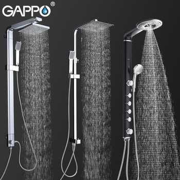 GAPPO Bad Dusche Armaturen Bad Dusche System Wand Montiert Wasserhahn Mischbatterie Regen Dusche Set Wasserfall ABS Panel Massage