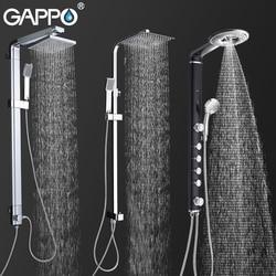 Gappo torneiras de chuveiro do banheiro banho chuveiro sistema fixado na parede torneira misturadora chuva chuveiro conjunto cachoeira abs painel massagem