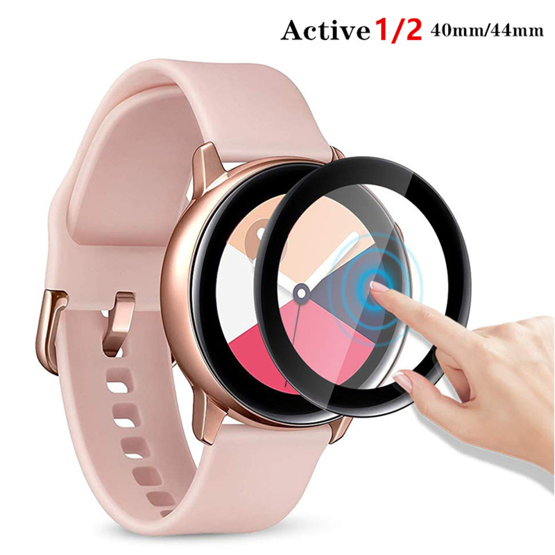 Galaxy Watch Protector Glass For Samsung Galaxy Watch Active 2 44mm 40mm Sport 3D HD Full Screen Tempered Film Watch Accessories