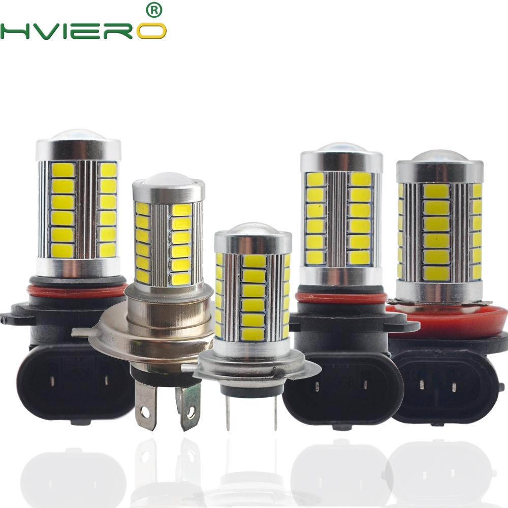 H8 H9 9005 9006 1156 1157 Auto Headlight 5630 33Led 6000K 800Lm Bright White Daytime Running Light DC 12V Fog Lamp Bulb HeadLamp