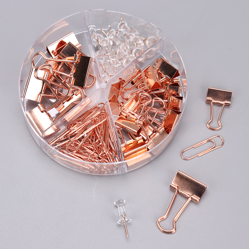 72PCS New Paper Clip Gold Color Foldback Metal Binder Clips Long Tail Clamps Office School Stationery Supplies