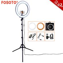 Fosoto 18 Inch Led Ring Light Fotografie Lamp Selfie Ringverlichting Led Ring Lamp Met Tripod Stand Voor Make Youtube Tiktok