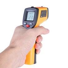 Pistola infravermelha digital da temperatura do laser da arma da temperatura do ir do lcd da testa não-contato com luz de fundo-50-380 °c