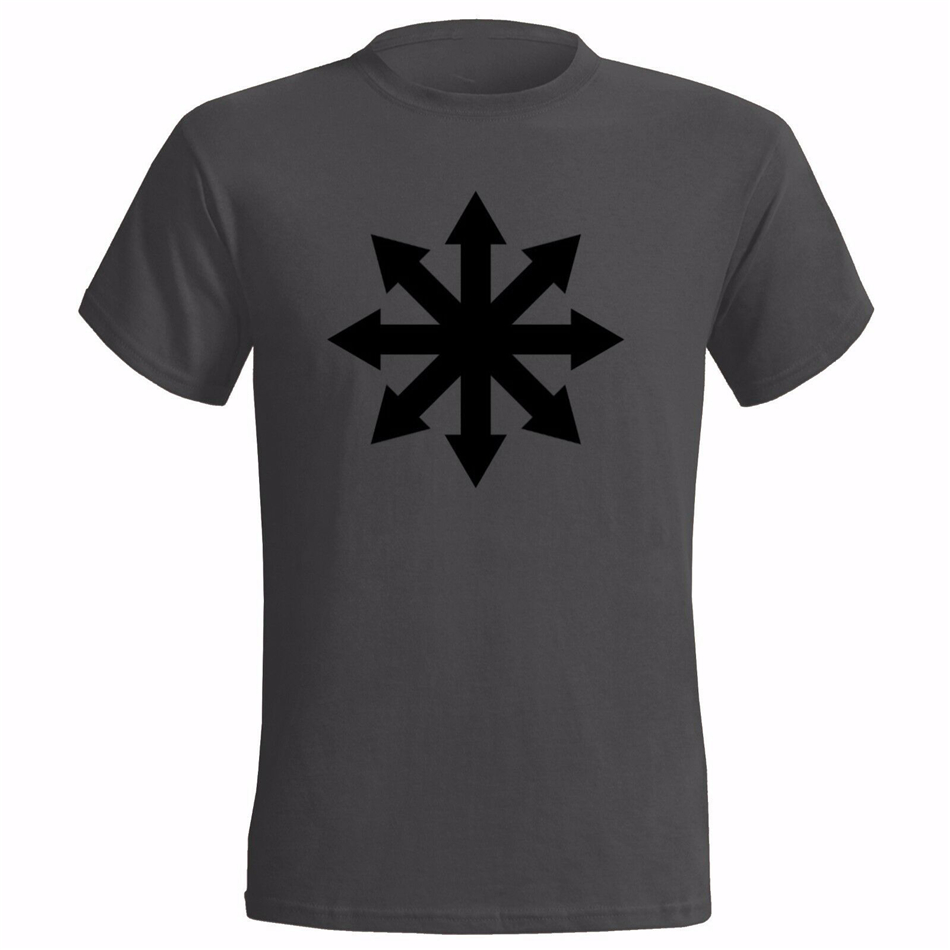 CHAOS SYMBOL MENS T Shirt ARROWS MAGIC OCCULT HALO WARHAMMER MOORCOCK New Funny Cotton Tee Shirt