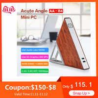 Akute Winkel AA-B4 DIY Mini PC Intel Apollo See N3450 Windows10 8GB RAM 64GB EMMC 128GB SSD 2,4G 5,8G WiFi 1000Mbps BT4.0 TV Box