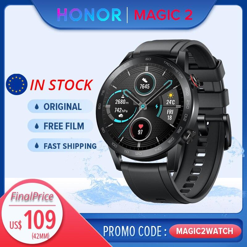 【Promo Code: MAGIC2WATCH】Honor Magic Watch 2 42/46mm GPS Smart Watch Men Fitness Tracker Kirin A1 Chip Built-in Mic Speaker