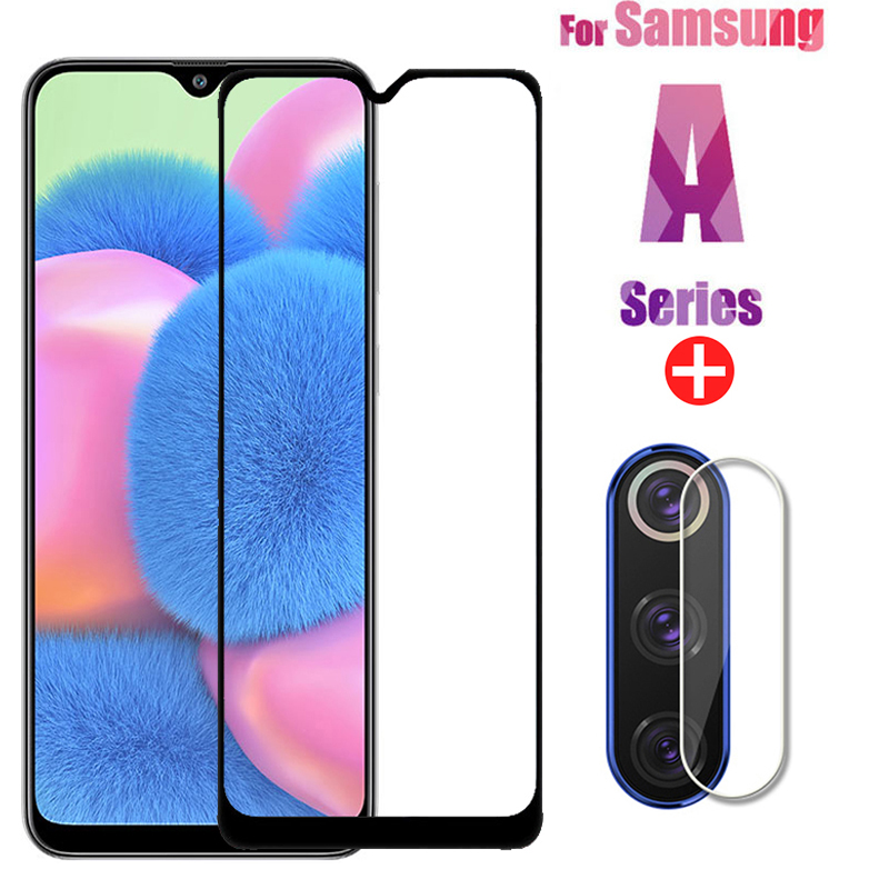 2 In 1 Samsun A30S Protective Glass For Samsung Galaxy A51 A50 A31 M21 A71 A30S Screen Protector Camera Lens Film On Samsun A 51